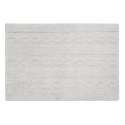 Lorena Canals Tapis Lavable Tressé de Lorena Canals/Lorena Canals Braids Washable Rug, Gris/Grey