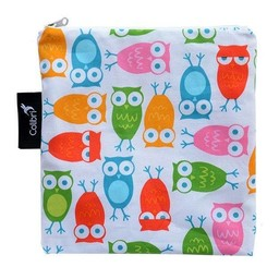 Colibri Colibri - Grand Sac à Collation / Large Snack Bag, Hiboux Fille/Girl Owls