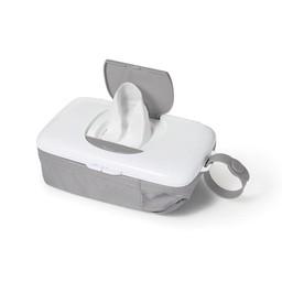 OXO Boite à Lingettes de Voyage avec Pochette de OXO Tot/OXO Tot On-the-Go Wipes Dispenser with Diaper Pouch Gris/Grey
