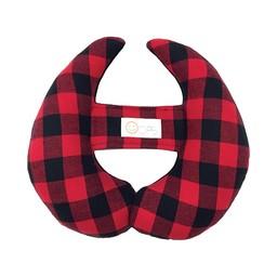 Oops Coussin de Tête Évolutif Oops, Rouge à Carreaux/Oops Scalable Head Pillow, Red Plaid