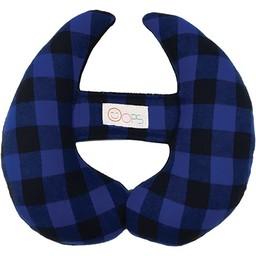 Oops Oops - Coussin de Tête Évolutif, Bleu à Carreau/Scalable Head Pillow, Blue Plaid