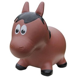 Farm Hoppers Farm Hoppers- Ballon Sauteur/Jumping Animals, , Cheval - Brun/Horse - Brown