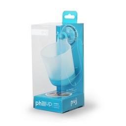 PUJ Verre à Crochet de PhillUp/Glass with Hook by PhillUp Bleu/Blue 7 oz