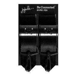 JuJuBe Attaches pour Poussette Be Connected de JuJuBe/JujuBe Be Connected Stroller Clips, Onyx Noir/Black