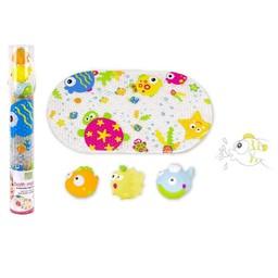 Kushies *Tapis de Bain et Jouets de Kushies Baby/Kushies Baby Bath Mat and Toy, Marin/Marine