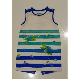 Mayoral *Barboteuse Rayée Tortues de Mayoral/Mayoral Striped Turtles Romper