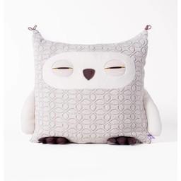 Velvet Moustache Velvet Moustache - Peluche Coussin Hibou/Owl Plush Cushion, Gris Pâle/Light Grey