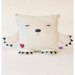 Velvet Moustache Velvet Moustache - Peluche Coussin Ours Polaire/Polar Bear Plush Cushion