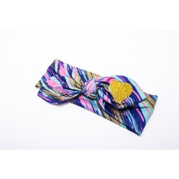 Roma Skye Confections *Bandeau à Noeud de Roma Skye/Roma Skye Headband, Or et Multicolore/Gold and Multicolor, 1-3 ans/years