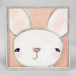 Oopsy Daisy Mini Toile Hello Bunny 6x6 de Oopsy Daisy/Oopsy Daisy 6x6 Hello Bunny Mini Framed Canvas