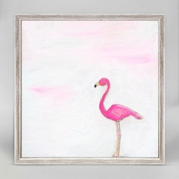 Oopsy Daisy Mini Toile 6x6 Un Flamant Rose de Oopsy Daisy/Oopsy Daisy 6x6 A Pink Flamingo Mini Framed Canvas