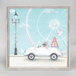 Oopsy Daisy Mini Toile 6x6 Petite Vespa Rose de Oopsy Daisy/Oopsy Daisy 6x6 Little Pink Vespa Mini Framed Canvas