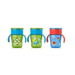Philips Avent Gobelet My First Big Kid Cup de Philips Avent - Philips Avent My First Big Kid Cup Bottle, 9oz -Garçon/Boy