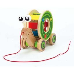 Hape Jouet à Tirer Walk-A-Long de Hape/Hape Walk-A-Long Push Toy, Escargot/Snail