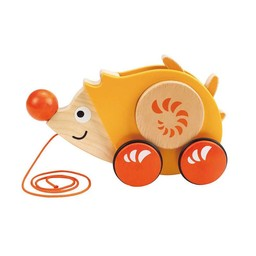 Hape Jouet à Tirer Walk-A-Long de Hape/Hape Walk-A-Long Push Toy, Herisson/Hedgehog