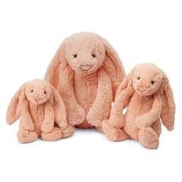 Jellycat *Lapin Bashful de Jellycat/Jellycat Bashful Bunny, Peach/Pêche, Medium/Moyen, 12 Pouces/Inches