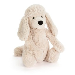 Jellycat Caniche Bashful de Jellycat/Jellycat Bashful Poodle Pup, Crème/Cream, Moyen/Medium, 12 pouces/inches