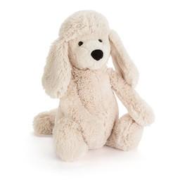 Jellycat Jellycat - Caniche Bashful/Bashful Poodle Pup, Crème/Cream, Moyen/Medium
