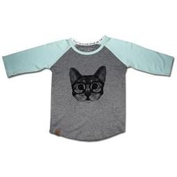 L&P L&P - Chandail à Manches Trois-Quart/Baseball T-Shirt 3/4 Sleeve, Chat/Cat