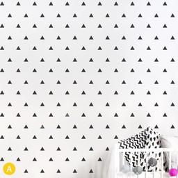 ADzif Autocollants Muraux de ADzif/ADzif Wall Stickers, Triangles Noirs/Black Triangles