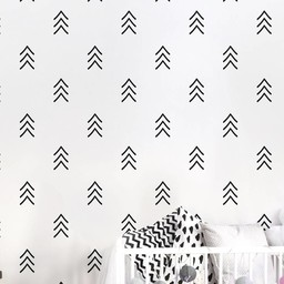 ADzif Autocollants Muraux de ADzif/ADzif Wall Stickers, Flèches Fines Noirs/Black Thin Arrows