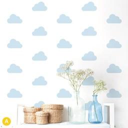 ADzif Autocollants Muraux de ADzif/ADzif Wall Stickers, Nuages Bleus/Blue Clouds