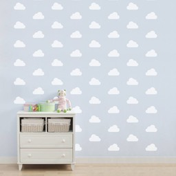 ADzif Autocollants Muraux de ADzif/ADzif Wall Stickers, Nuages Blancs/White Clouds