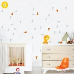 ADzif Autocollants Muraux de ADzif/ADzif Wall Stickers, Triangles Oranges et Gris/Orange and Grey Triangles