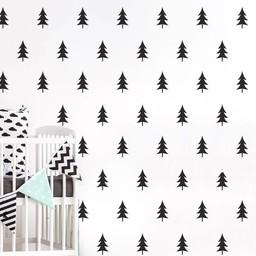 ADzif Autocollants Muraux de ADzif/ADzif Wall Stickers, Sapins Noirs/Black Tree