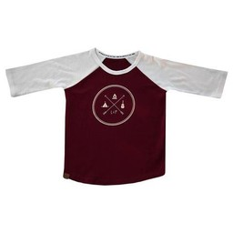 L&P L&P - Chandail à Manches Trois-Quart/Baseball T-Shirt 3/4 Sleeve, Camp de Base/Base Camp