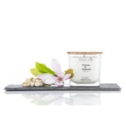 BlancSoja Bougie au Soja Pistache et Magnolia de Blanc Soja, 420 ml/Blanc Soja Pistachio and Magnolia Soja Candle, 420 ml
