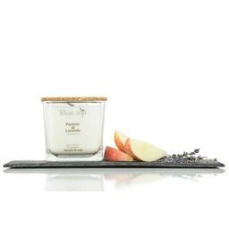 BlancSoja Bougie au Soja Pomme et Lavande de Blanc Soja, 420 ml/Blanc Soja Apple and Lavander Soja Candle, 420 ml