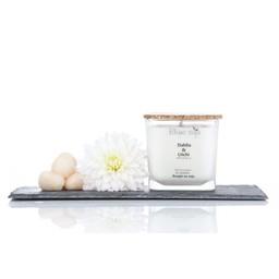 BlancSoja Bougie au Soja Dahlia et Litchi de Blanc Soja, 420 ml/Blanc Soja Dahlia and Lychee Soja Candle, 420 ml