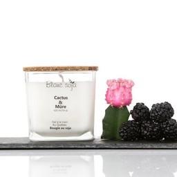 BlancSoja Blanc Soja - Bougie au Soja Cactus et Mûre, 420 ml/Cactus and Blackberry Soja Candle, 420 ml