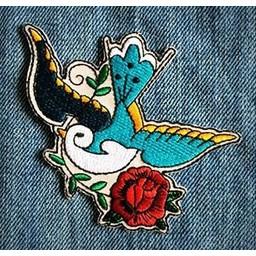 Les Tatoués Écusson l'Hirondelle de Les Tatoués/Les Tatoués Patch The Sparrow
