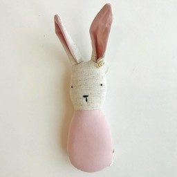 Ouistitine Hochet Lapin de Ouistitine/Ouistitine Rabbit Rattle, Vieux Rose