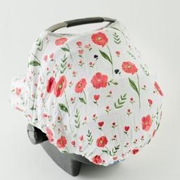 Little Unicorn Little Unicorn - Abri pour Siège de Voiture/Car Seat Canopy, Coquelicots d'Été/Summer Poppy