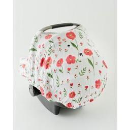 Little Unicorn Little Unicorn - Abri pour Siège de Voiture / Car Seat Canopy, Coquelicots d'Été/Summer Poppy
