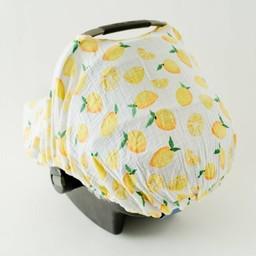 Little Unicorn Abri pour Siège de Voiture de Little Unicorn/Little Unicorn Car Seat Canopy, Citron/Lemon