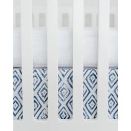 Little Unicorn *Jupe de Lit en Percale de Coton de Little Unicorn/Little Unicorn Cotton Percale Crib Skirt, Topaz Bleu/Blue Topaz