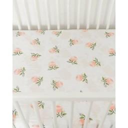 Little Unicorn Little Unicorn - Drap Contour en Coton Brossé /Brushed Cotton Crib Sheet, Aquarelle Rose/Watercolor Rose