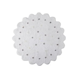 Lorena Canals Tapis Biscuits de Lorena Canals/Lorena Canals Cookie Washable Rug, Blanc/White