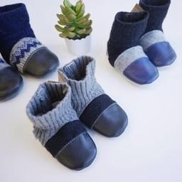 Nook Design Nooks Design - Chaussons pour Bébé/Baby Slippers, Garçon/Boy, 6-12 Mois/Months