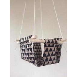 Cyan Degre Balançoire Suspendue de Cyan/Cyan Suspended Swing, Noir Triangles/Triangles Black