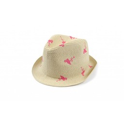 Appaman Appaman - Fedora Audrey/Audrey Fedora, Flamants roses/Pink flamingos-Medium
