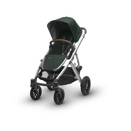 UPPAbaby PRÉ-COMMANDE - UPPAbaby, Vista 2017 - Poussette Base Aluminium/Stroller Aluminium Frame, Cuir/Leather, Austin (Vert/Hunter)