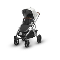 UPPAbaby PRÉ-COMMANDE - UPPAbaby, Vista 2017 - Poussette Base Aluminium/Stroller Aluminium Frame, Cuir/Leather, Loic (Blanc/White)