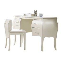 Natart Juvenile Natart Allegra - Vanité avec Siège/Desk with Seating, Blanc Français/French White