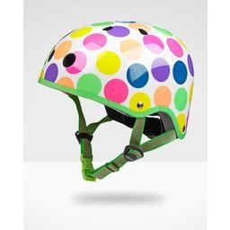 Kickboard Canada Kickboard - Casque de Trottinette/Scooter Helmet, Pois Néon/Neon Dots, Petit/Small