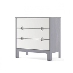 Dutailier Dutailier Cupcake - Commode à 3 Tiroirs/3 Drawer Dresser, Gris et Blanc/Grey and White, Programme Stock